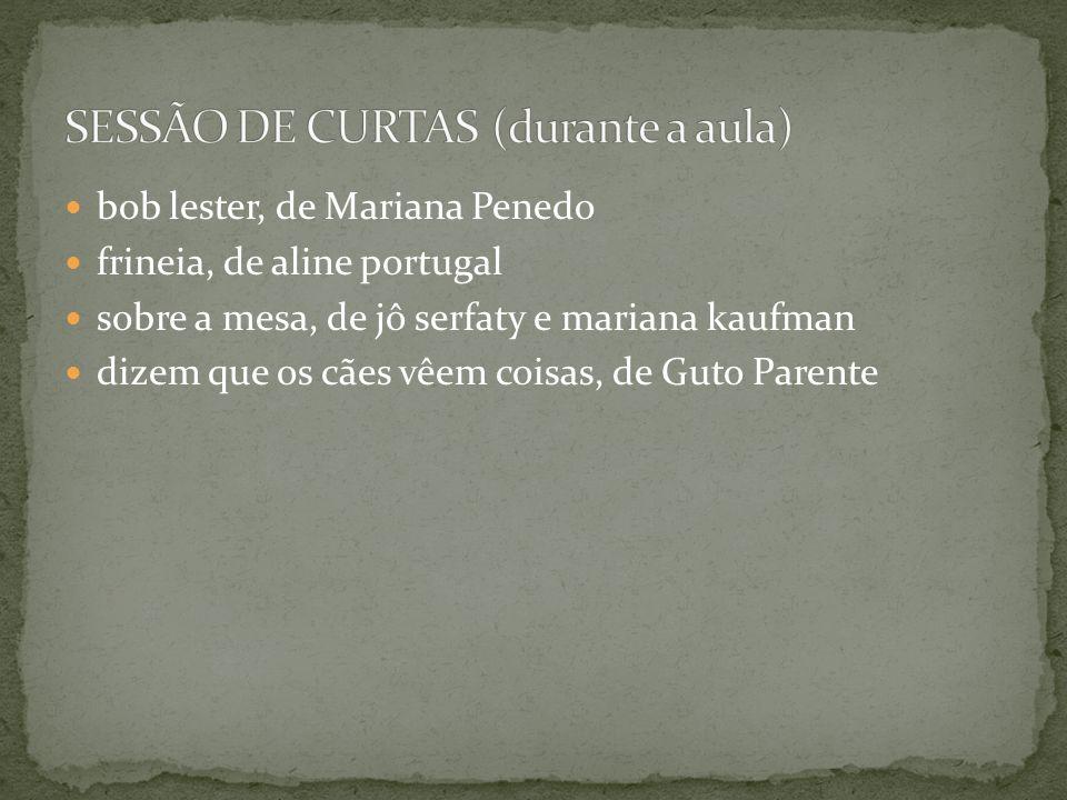 SESSÃO DE CURTAS (durante a aula)