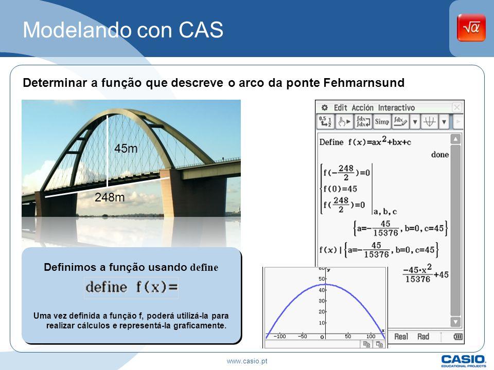 Definimos a função usando define