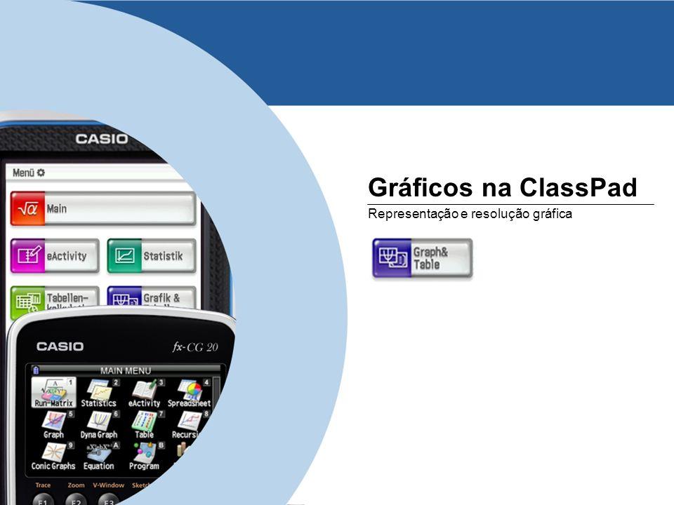 Gráficos na ClassPad Representação e resolução gráfica