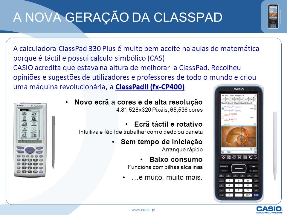 A NOVA GERAÇÃO DA CLASSPAD