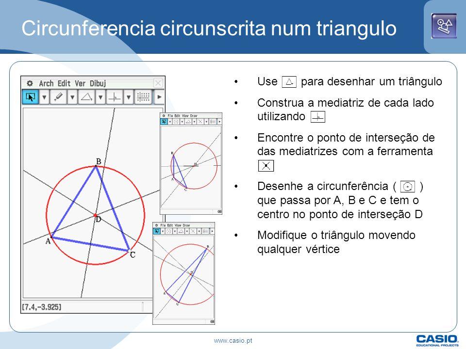 Circunferencia circunscrita num triangulo