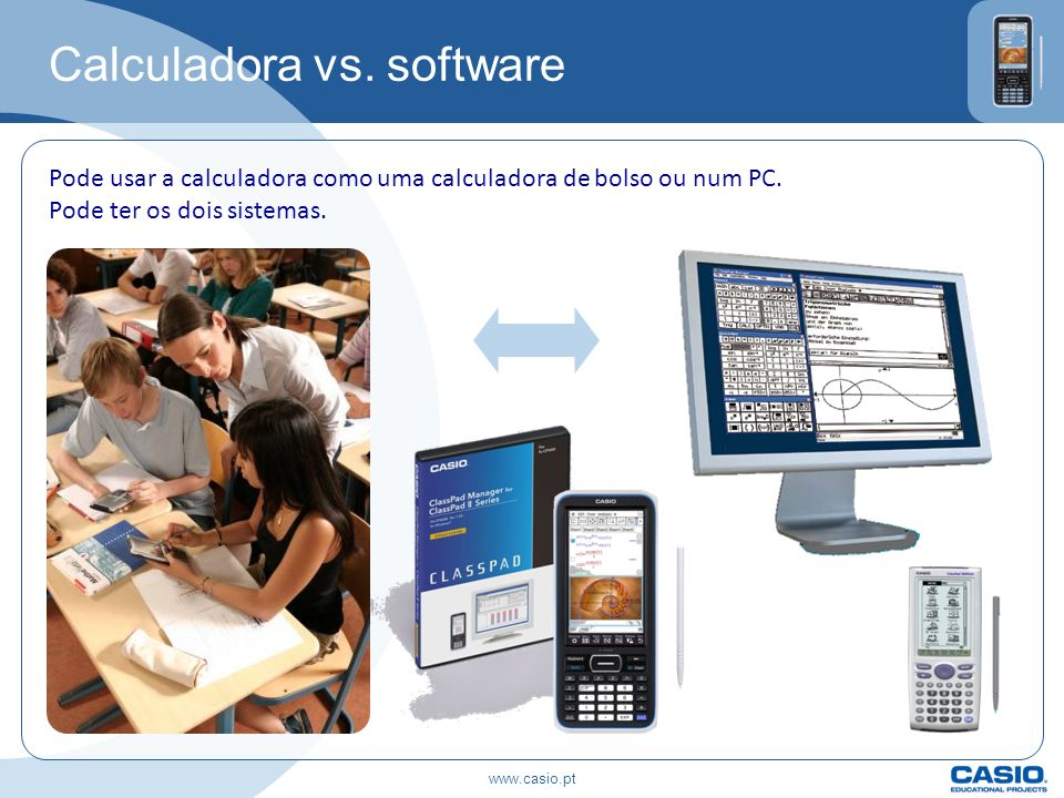 Calculadora vs. software