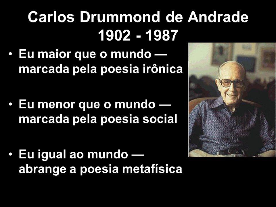 Carlos Drummond de Andrade 1902 - 1987