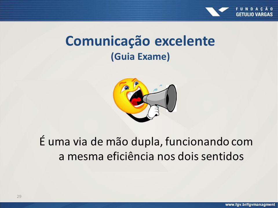 Comunicação excelente (Guia Exame)