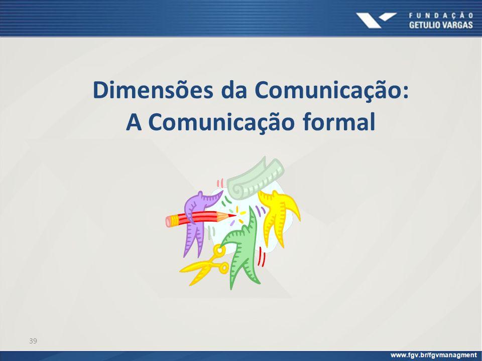 Dimensões da Comunicação: A Comunicação formal