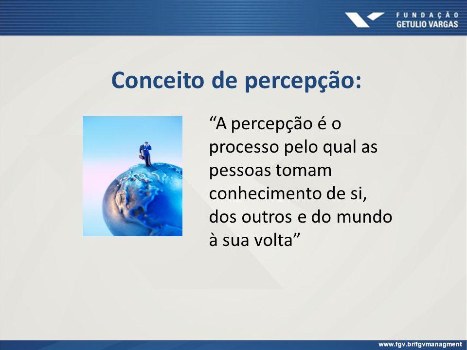 Conceito de percepção: