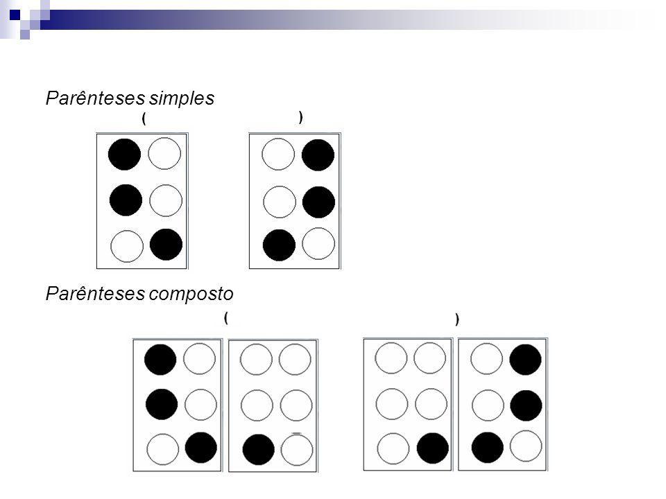 Parênteses simples Parênteses composto
