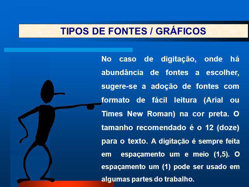 TIPOS DE FONTES / GRÁFICOS