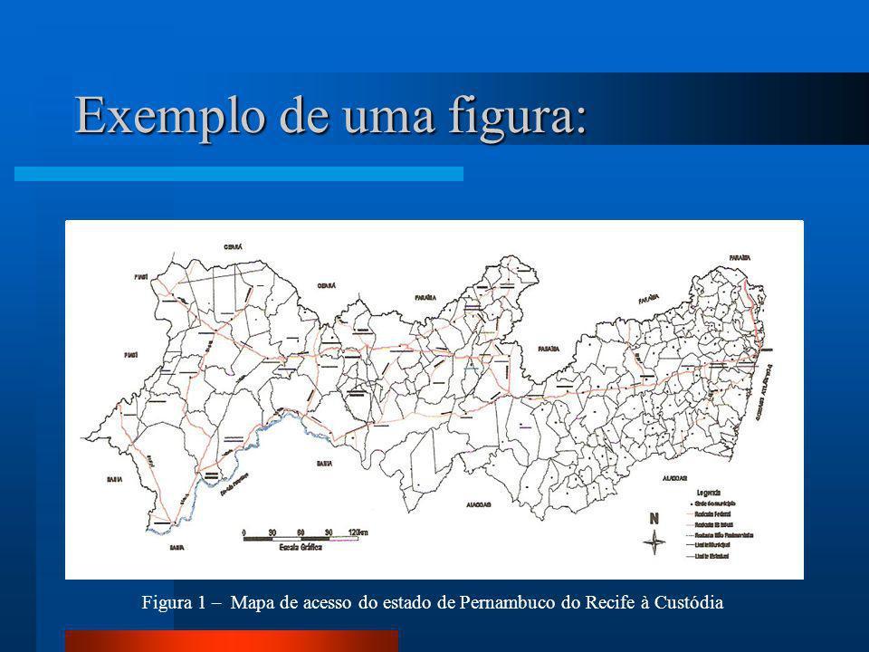 Figura 1 – Mapa de acesso do estado de Pernambuco do Recife à Custódia