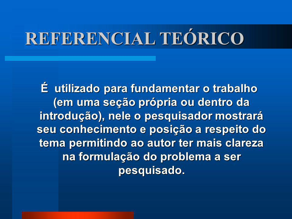 REFERENCIAL TEÓRICO