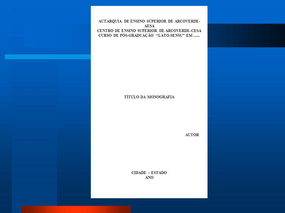 AUTARQUIA DE ENSINO SUPERIOR DE ARCOVERDE-AESA