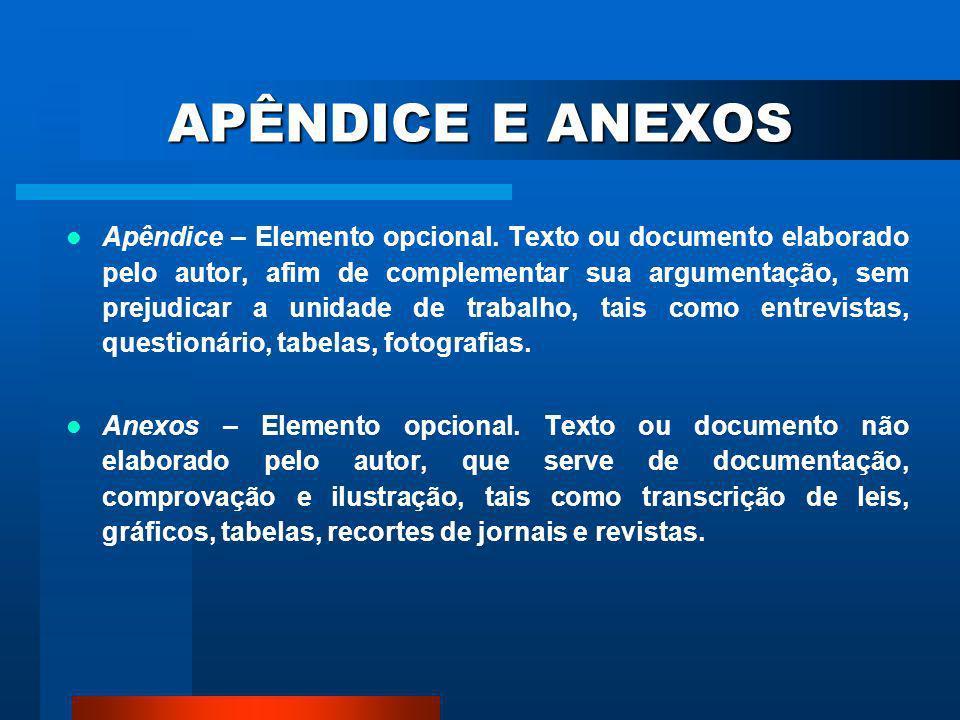APÊNDICE E ANEXOS