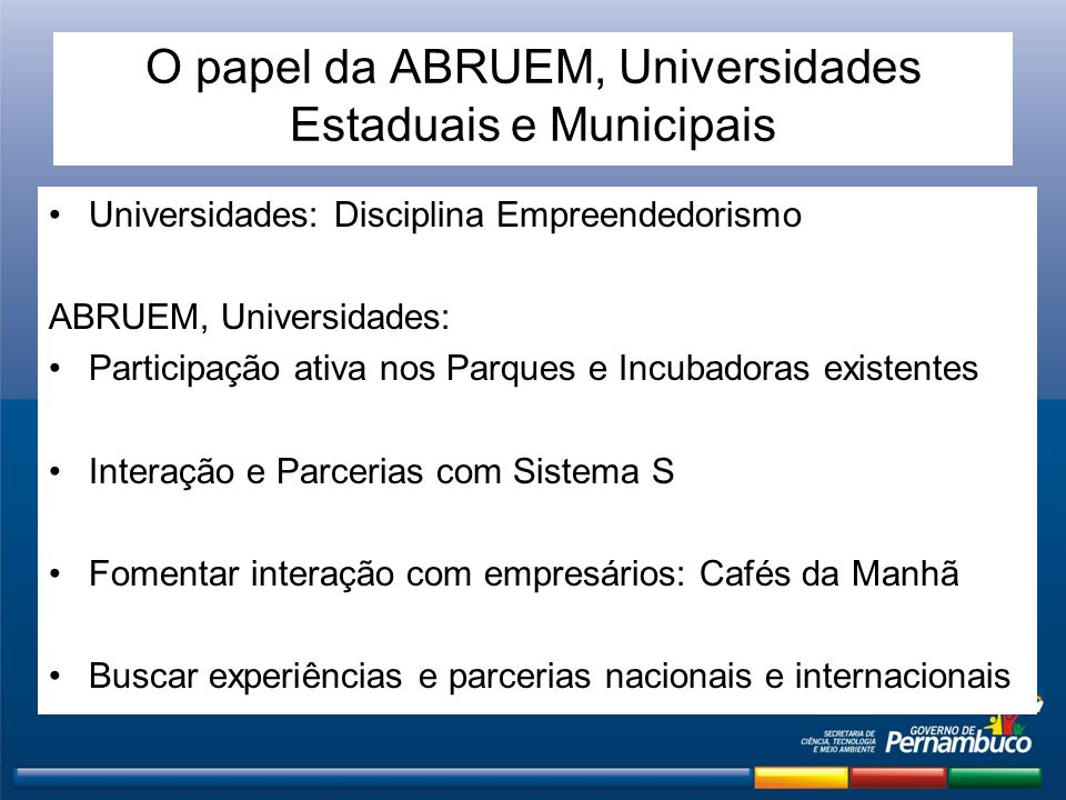 O papel da ABRUEM, Universidades Estaduais e Municipais