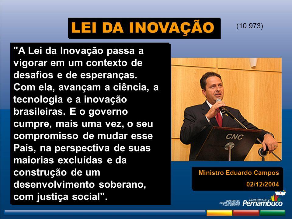 LEI DA INOVAÇÃO (10.973)