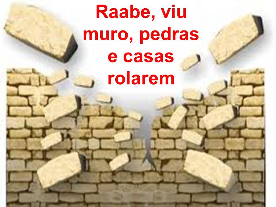 Raabe, viu muro, pedras e casas rolarem