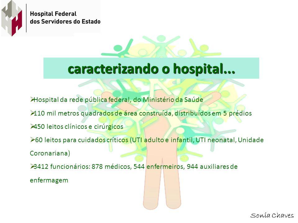 caracterizando o hospital...