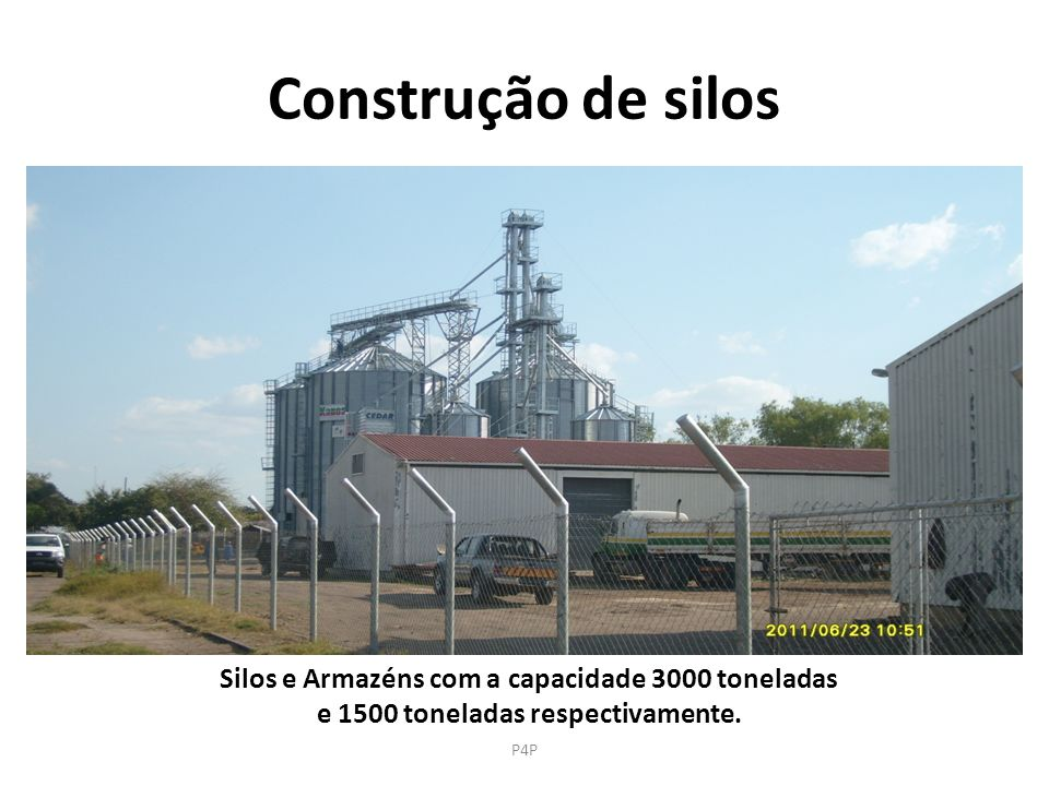 Construção de silos Silos e Armazéns com a capacidade 3000 toneladas