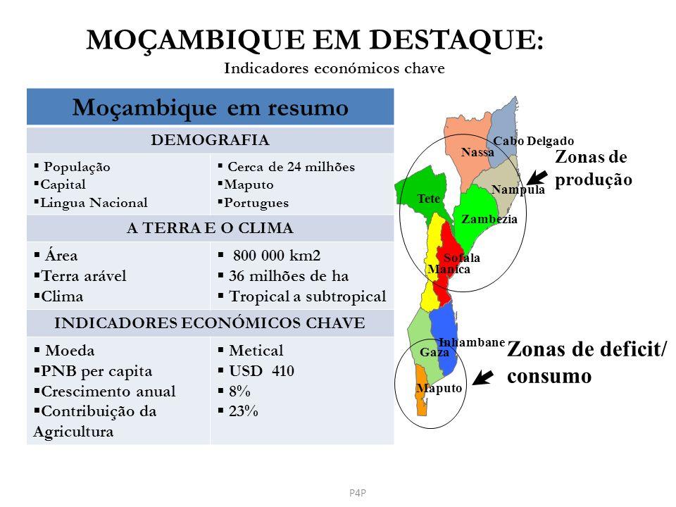 MOÇAMBIQUE EM DESTAQUE: Indicadores económicos chave