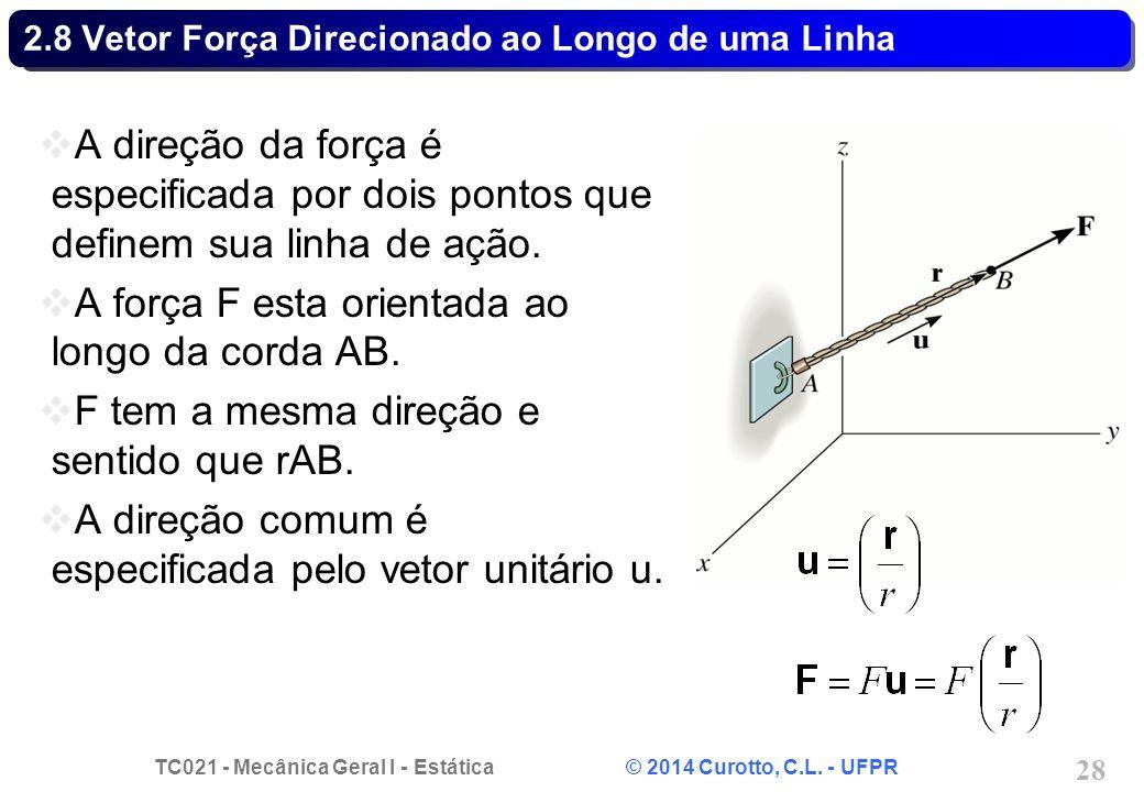 2.8 Vetor Força Direcionado ao Longo de uma Linha
