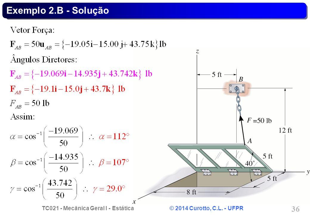 Exemplo 2.B - Solução