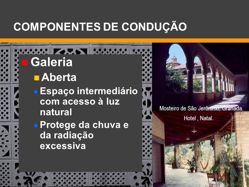 Galeria COMPONENTES DE CONDUÇÃO Aberta