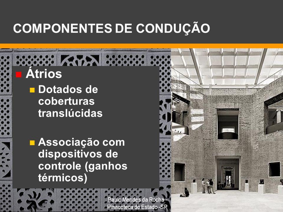 COMPONENTES DE CONDUÇÃO