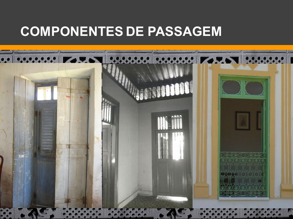 COMPONENTES DE PASSAGEM
