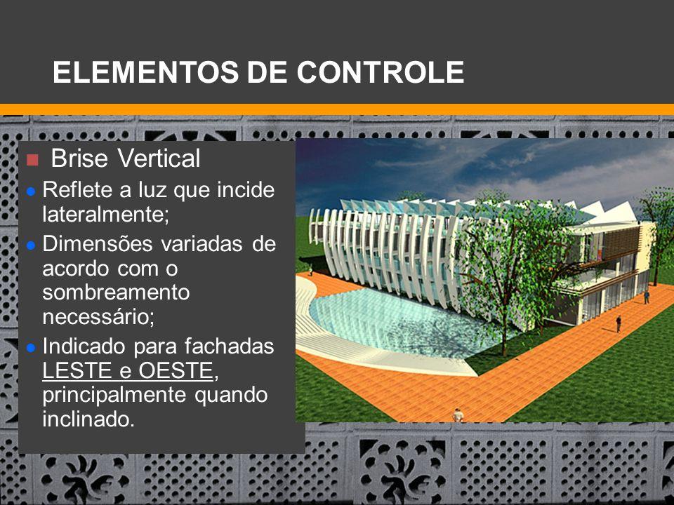 ELEMENTOS DE CONTROLE Brise Vertical