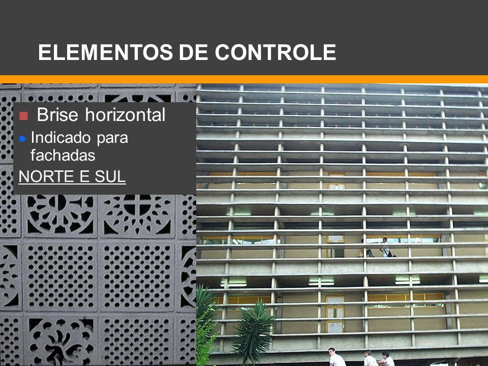 ELEMENTOS DE CONTROLE Brise horizontal Indicado para fachadas