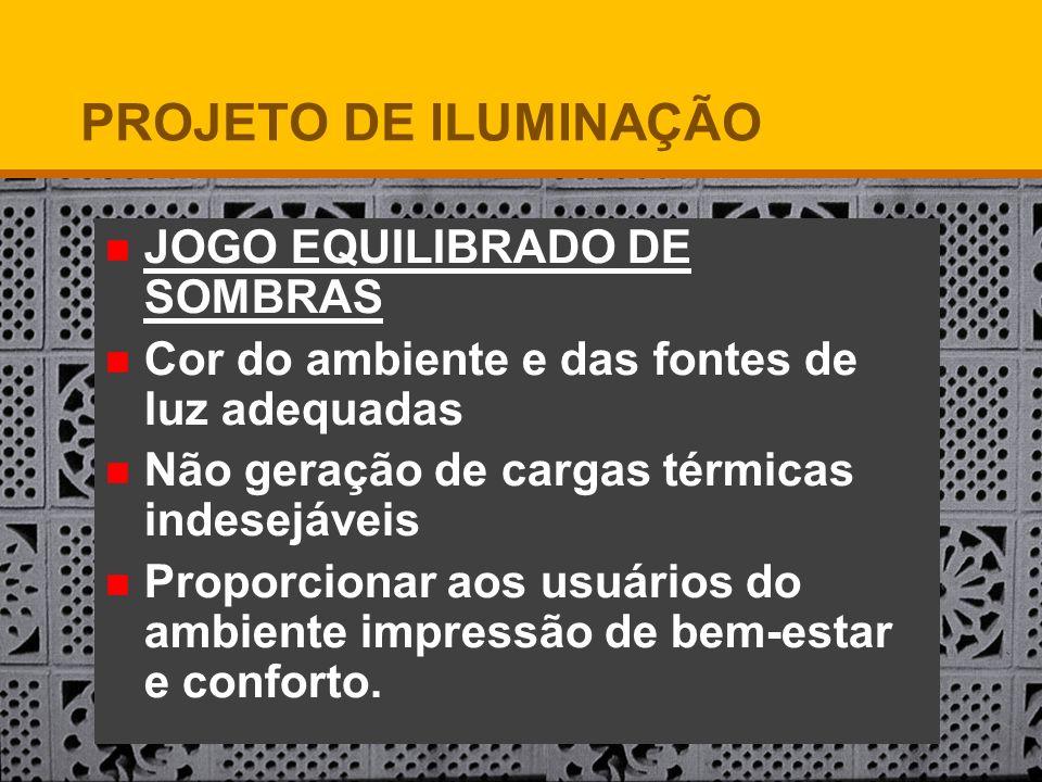PROJETO DE ILUMINAÇÃO JOGO EQUILIBRADO DE SOMBRAS