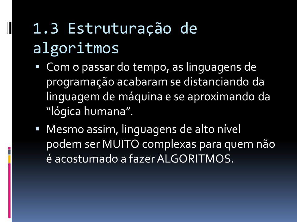 1.3 Estruturação de algoritmos