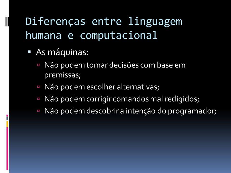 Diferenças entre linguagem humana e computacional