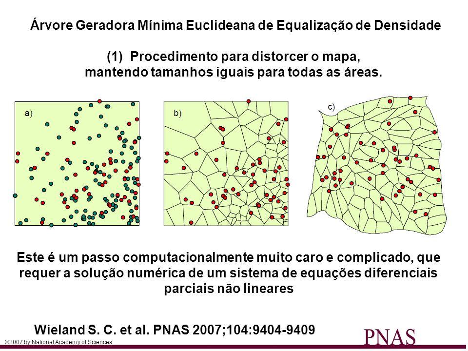 Árvore Geradora Mínima Euclideana de Equalização de Densidade