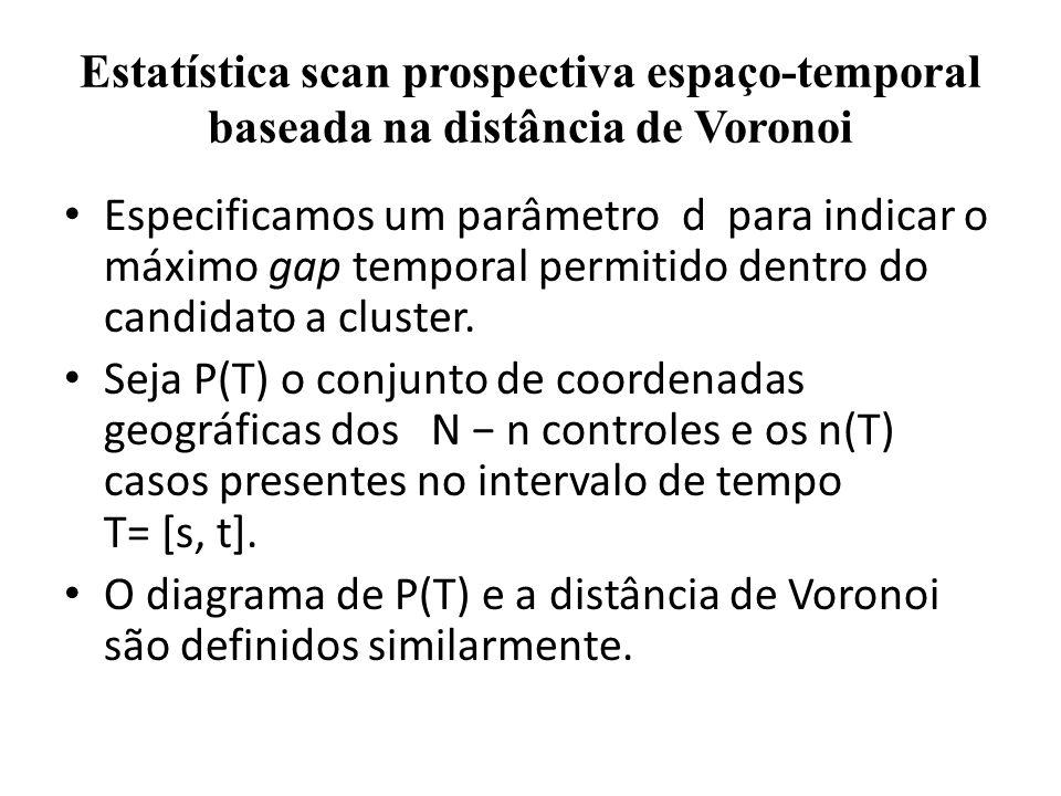 Estatística scan prospectiva espaço-temporal baseada na distância de Voronoi
