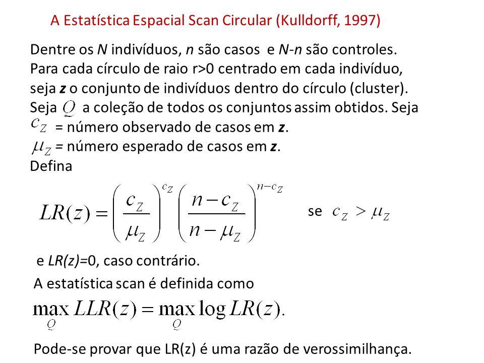 A Estatística Espacial Scan Circular (Kulldorff, 1997)