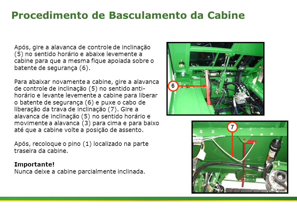 Procedimento de Basculamento da Cabine