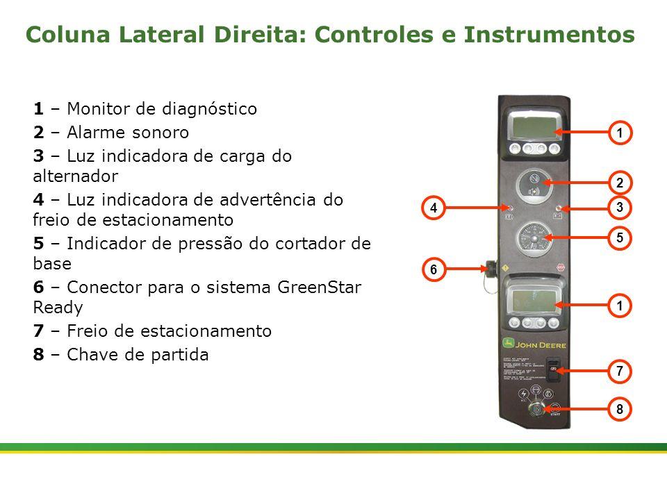 Coluna Lateral Direita: Controles e Instrumentos