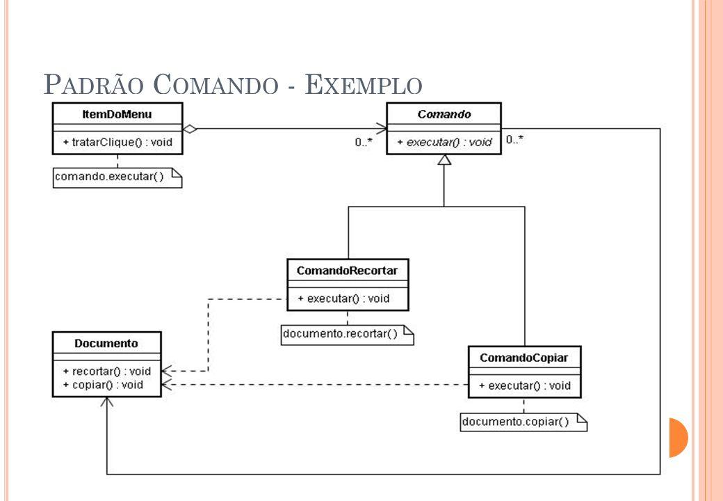 Padrão Comando - Exemplo