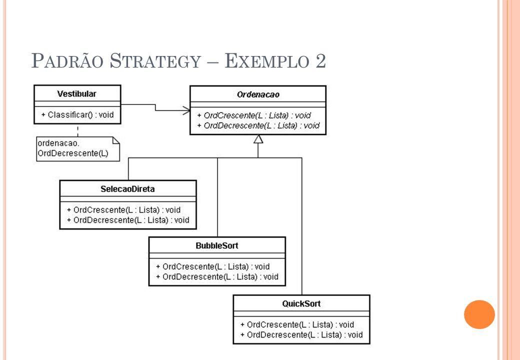 Padrão Strategy – Exemplo 2