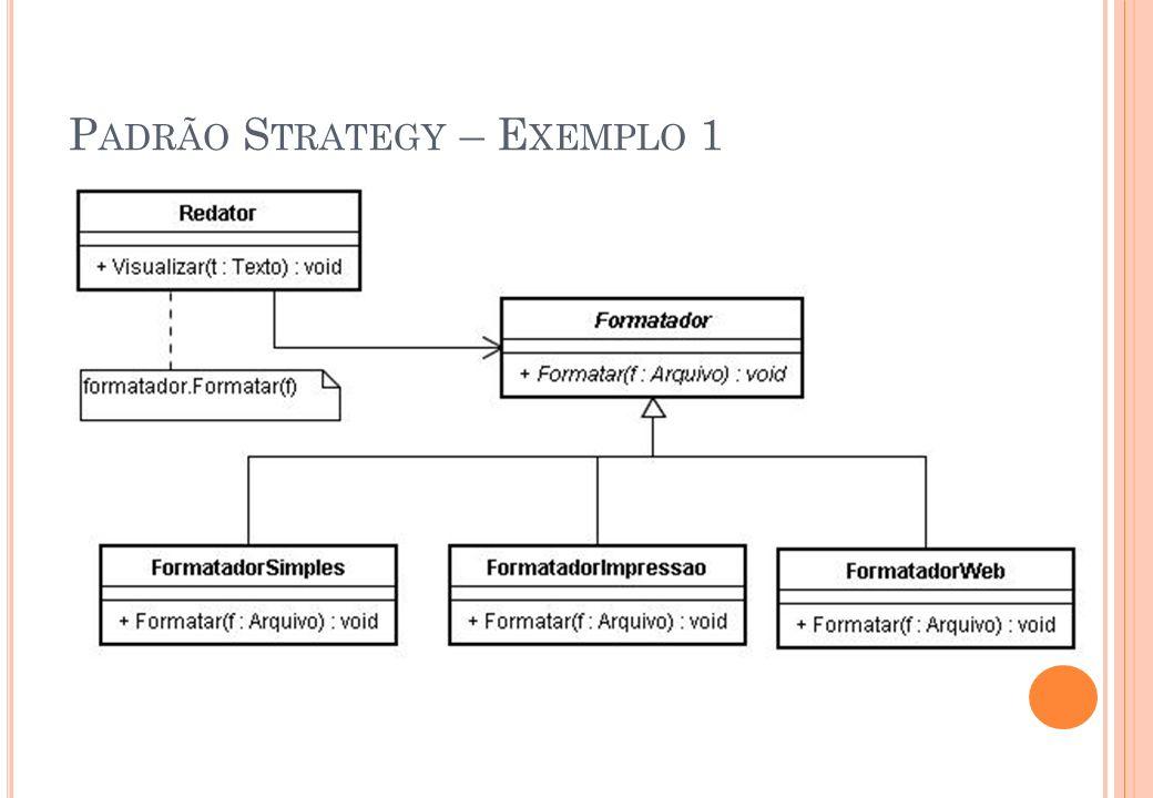 Padrão Strategy – Exemplo 1