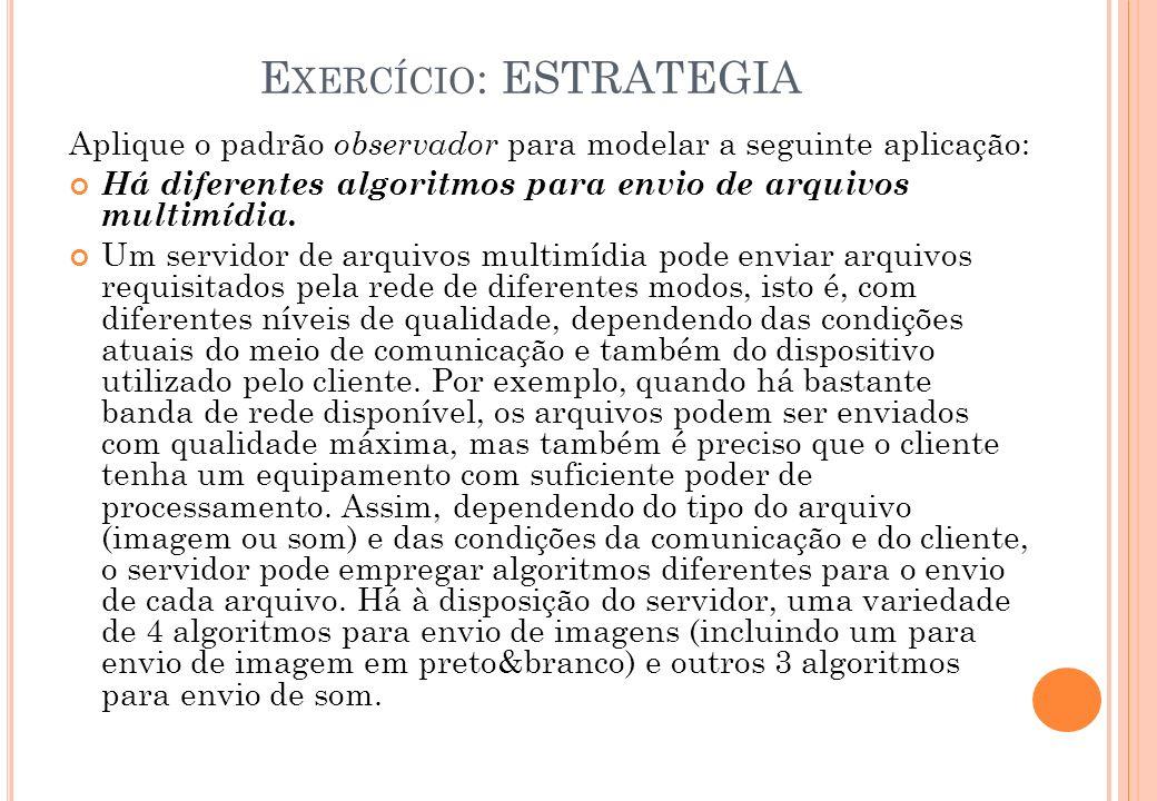 Exercício: ESTRATEGIA