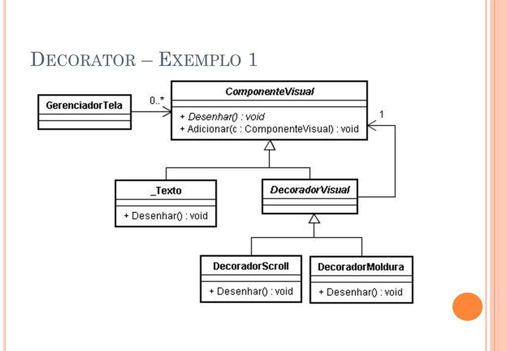 Decorator – Exemplo 1