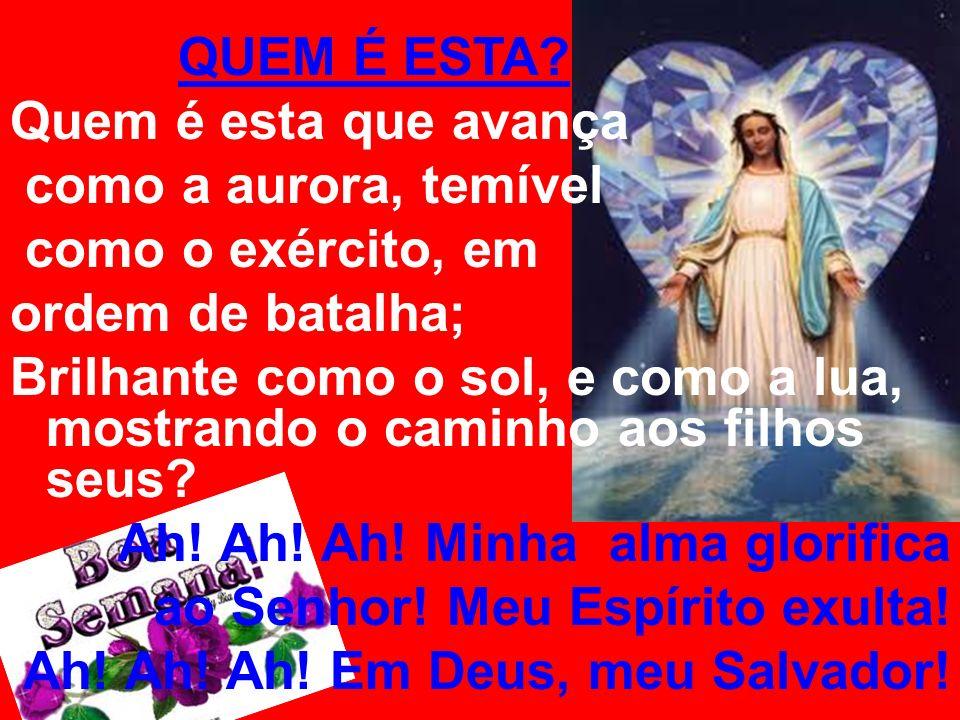 Ah! Ah! Ah! Minha alma glorifica ao Senhor! Meu Espírito exulta!