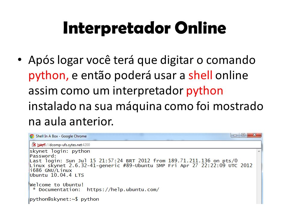 Interpretador Online