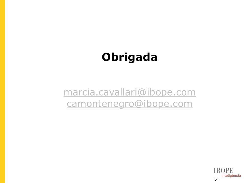 Obrigada marcia.cavallari@ibope.com camontenegro@ibope.com