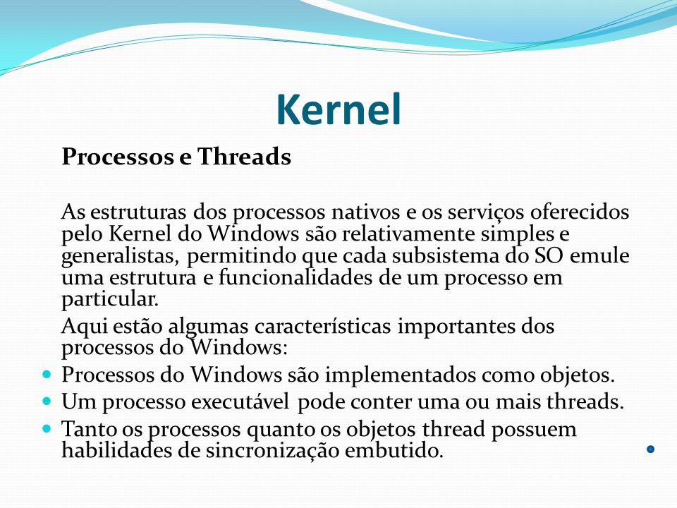 Kernel Processos e Threads