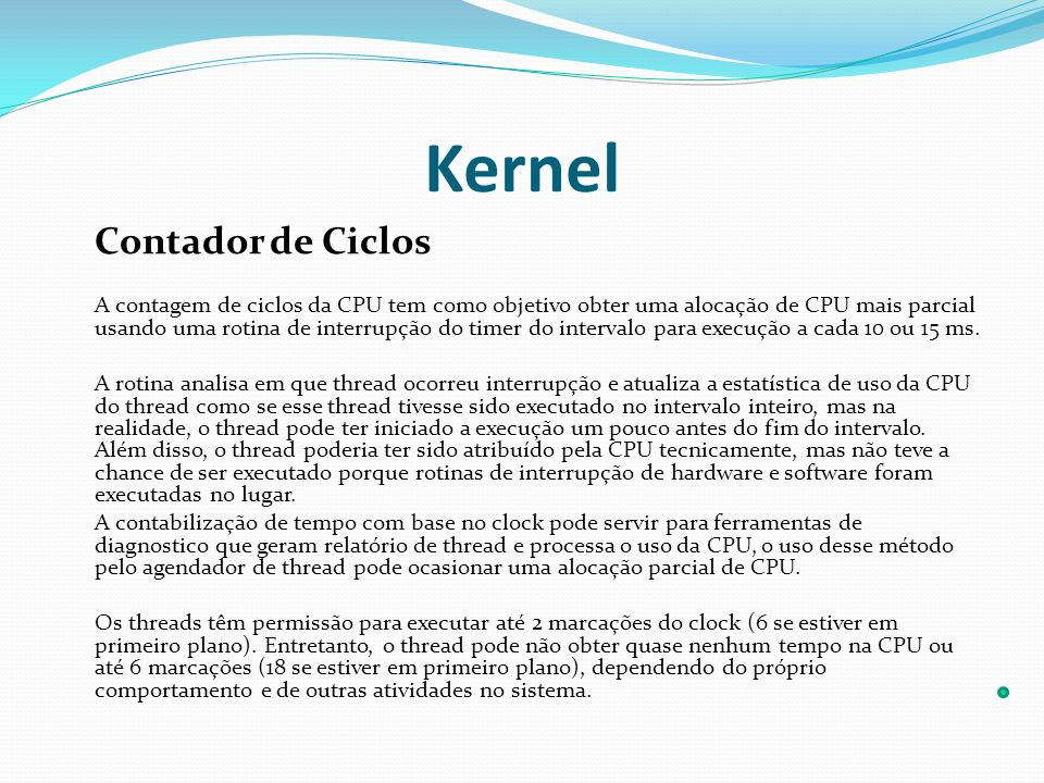 Kernel Contador de Ciclos