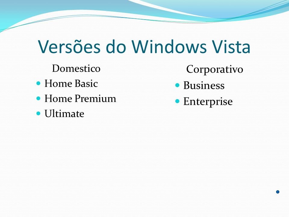 Versões do Windows Vista