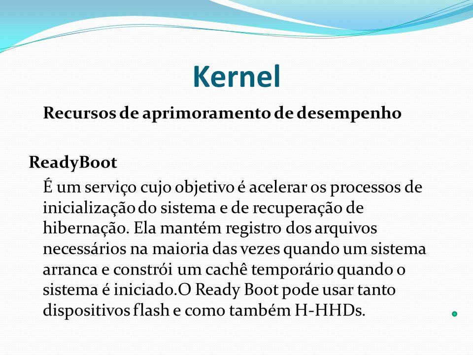 Kernel Recursos de aprimoramento de desempenho ReadyBoot