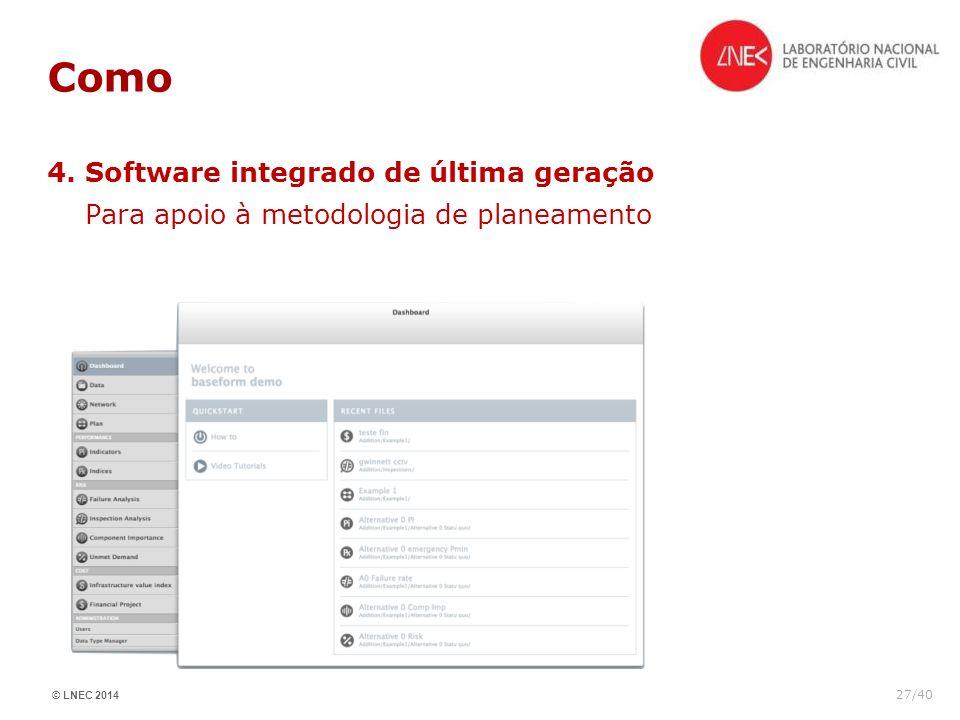 Como 4. Software integrado de última geração Para apoio à metodologia de planeamento